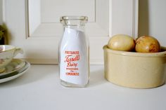 Vintage Milk Bottle Pint Size Farrells Dairy by LillysCottage, $12.50