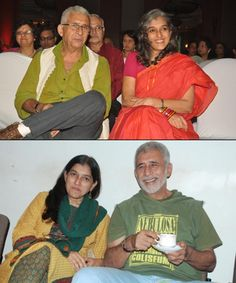 Naseeruddin Shah and Ratna Pathak - They are truly an inspiration to all! Bollywood Couples, Bollywood Celebrities, Ratna Pathak, Naseeruddin Shah, Real Family, Celebrity Couples, Marriage, Challenges, Families