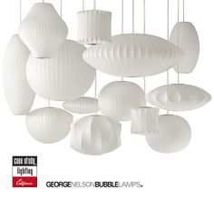 George Nelson Bubble Lamps by Modernica. Mid Century Modern classics
