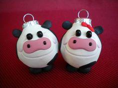 Cow Mini Ornaments by Sleepydenas on Etsy, $5.00