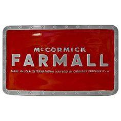 IH-Farmall Men's Red Belt Buckle