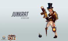Junkrat Skins, Overwatch Skin Concepts, Overwatch Pin, Junkrat And Roadhog, Strong Love, Geek Culture, Fanart, Geek Stuff, Hero