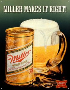 Miller Makes It Right Emaille bord bij AllPosters.nl