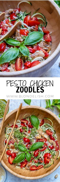 This healthy pesto chicken zoodles recipe takes just 25 minutes to make. Can you believe it? Tasty, Healthy and Easy to make… Everything a foodie could wish for.