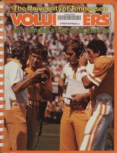 The Tennessee Football Programs: 1981 Football Press Guide - UT vs Wisconsin (Garden State Bowl) Ut Football, Tennessee Football, College Football Teams, University Of Tennessee, Football Program, Tn Titans, Vol Nation, Neyland Stadium