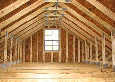 """Rafters: Sloping timbers, which support the roof. Usually only visible from the attic but exposed in """"rustic"""" type homes such as cabins and bungalows."""