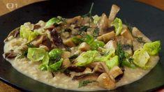 Kroupové rizoto s houbami — Kluci v akci — Česká televize Tacos, Mexican, Ethnic Recipes, Food, Essen, Meals, Yemek, Mexicans, Eten