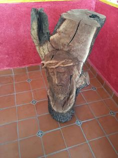 Beautiful Wood Carved Jesus Christ Crown Of Thorns From Reclaimed Wood! Handcrafted in Dolores Hidalgo, GTO Mexico! #Jesus #ReclaimedWood