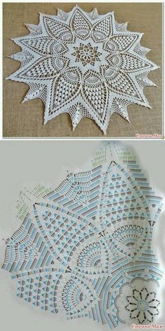 Free Crochet Doilies diagram Strategies Bonito y sencillo centro de ganchillo. – Wzory – Hottest Free Crochet Doilies diagram Strategies Bonito y sencillo centro de ganchillo. Motif Mandala Crochet, Free Crochet Doily Patterns, Crochet Doily Diagram, Crochet Tablecloth Pattern, Crochet Circles, Crochet Chart, Crochet Designs, Free Pattern, Doily Rug