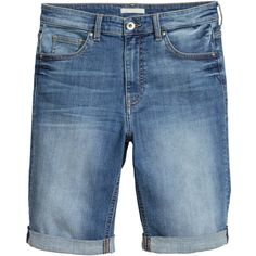 H&M  Denim shorts ($19) ❤ liked on Polyvore featuring shorts ...