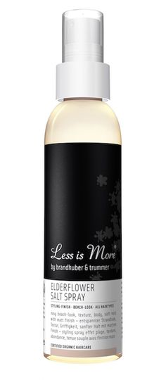 Less is More - Elderflower Salt Spray Natural Hair Care, Natural Hair Styles, Elderflower, Less Is More, Beach Look, Crushes, Moisturizer, Salt, Organic