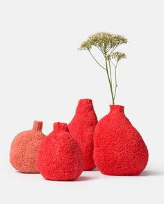 Coral vases by Michal Fargo
