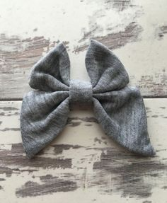 Heather Gray Madeline Bow bow mini hair bow by LillyBelleMarket