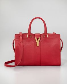 ChYc Mini Tote Bag, Rouge by Yves Saint Laurent at Neiman Marcus.I want UUUU!!