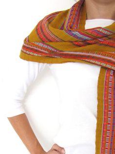Pantel scarf handwoven in Chiapas, Mexico
