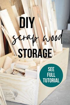 Organize your scrap wood in no time with this easy DIY scrap wood organizer. Built from scrap wood it's not only an easy build, it's FREE! #workshop #organizing #scrapwood #AnikasDIYLife Workshop Shed, Workshop Storage, Workshop Organization, Workshop Ideas, Woodworking Workshop, Easy Woodworking Projects, Woodworking Plans, Diy Projects, Diy Workbench