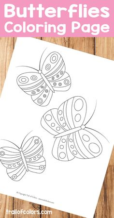 I think kids will love this cute butterflies free printable coloring page especially if they like this lovely creatures or bugs in generally.