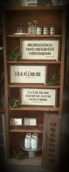 Hand painted novel quotes (williams country charm..facebook)