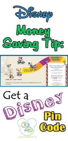 Save money by getting a Disney Pin Code