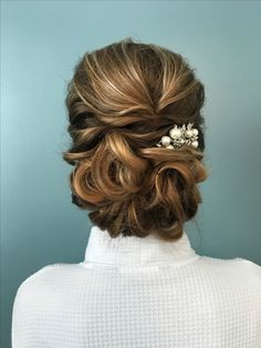 Pretty bridal updo styling all up