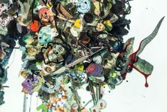 Psychogeographies: Collages Encased in Layers of Glass by Dustin Yellin sculpture glass collage 3d Collage, Collages, Art Of Glass, Colossal Art, Toy Boxes, Glass Panels, Three Dimensional, Sculptures, Layers