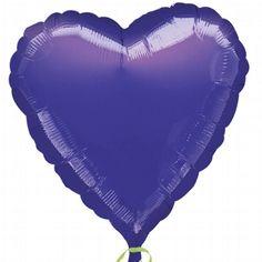 "Folienballon ""Metallic-Herz"" lila"
