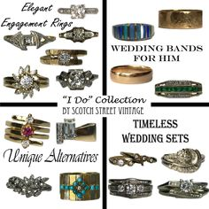Scotch Street Vintage has been part of over 300 engagements and weddings. It is a fact of great pride for me and I make sure I am always updating our Wedding Collection. Come explore all the possibilities and price ranges!
