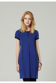Merino PU Binding Dress