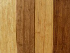 Bamboo floor boards in different colours.