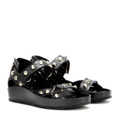 mytheresa.com - Studded leather platforms - Flat - Sandals - Shoes - Luxury Fashion for Women / Designer clothing, shoes, bags