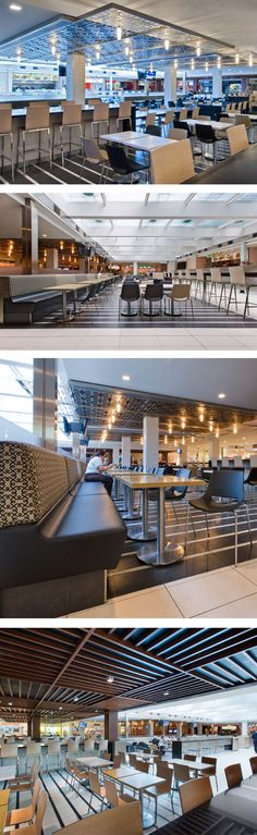 Food Court at Richmond Adelaide Centre in Toronto, ON - designed by GH+A (in collaboration with WZMH Architects)