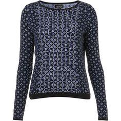 Knitted Tile Jacquard Jumper ($84) via Polyvore