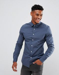 Get this Asos's plaid shirt now! Click for more details. Worldwide shipping. ASOS Smart Stretch Slim Poplin Check Shirt In Navy - Navy: Shirt by ASOS, Stretch cotton, Check pattern, Spread collar, Button placket, Slim fit - cut close to the body, Machine wash, 97% Cotton, 3% Elastane, Our model wears a size Medium and is 183cm/6'0 tall. ASOS menswear shuts down the new season with the latest trends and the coolest products, designed in London and sold across the world. Update your go-to…