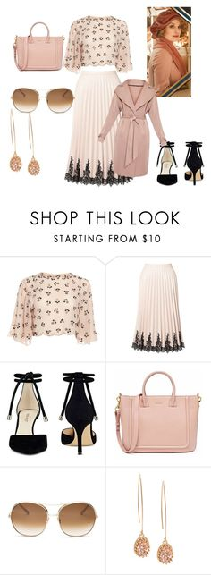 """Queenie Goldstein 2016"" by goddessofmonsters on Polyvore featuring Miss Selfridge, Nine West, Chloé and modern"