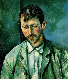 """Cezanne. Campesino. """"Pero no tuve tanta suerte con otras obras de Cezanne, sobre todo con tres grandes lienzos, cada uno de los cuales representaba un 'Campesino' y ante los que un visitante se detuvo un rato. 'Se reconoce en seguida a nuestros campesinos del Sur', comentó, volviéndose hacia mi""""-"""