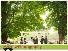 Wedding ceremony at Flag Hill Winery, Lee NH. Photography by MrDrew Photography. www.mrdrewphotography.com