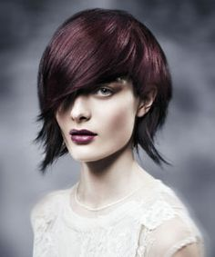 Aveda Neo Goth Collection 2012. Growing it this length/doing this color.