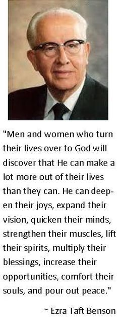 -Ezra Taft Benson quote  #BYU Women's Conference #Service of God #Ezra Taft…