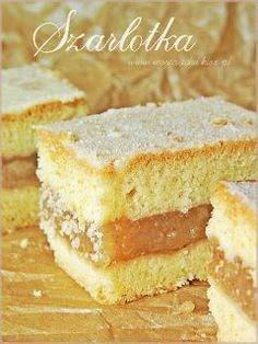Polish Recipes, Polish Food, Cake Recipes, Dessert Recipes, Apple Cake, Vanilla Cake, Recipies, Deserts, Food And Drink