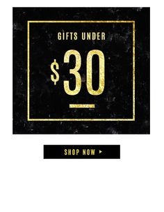 Here's your holiday gift guide for 2015! Shop everything under $30, $50 & $100