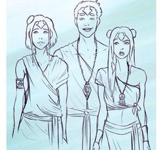 This is freakin amazing is a picture of older Ikki, Jinora, Meelo!