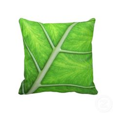 Tropical Nature Green Leaf Photography Cushion Throw Pillows by color_therapy
