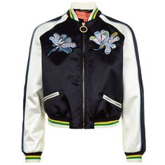 Tommy Hilfiger Mustique Motif Bomber Jacket (6.235 HRK) ❤ liked on Polyvore featuring outerwear, jackets, flight jacket, blue jackets, tommy hilfiger, tommy hilfiger jacket and denim jacket
