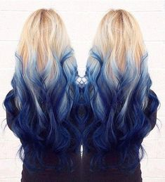 Are you looking for dark blue hair color for ombre and teal? See our collection full of dark blue hair color for ombre and teal and get inspired! Ombre Hair Color, Blonde Color, Cool Hair Color, Blue Ombre, Red Purple, Hair Colors, Purple Hair, Blonde Hair With Blue Tips, Blue Green
