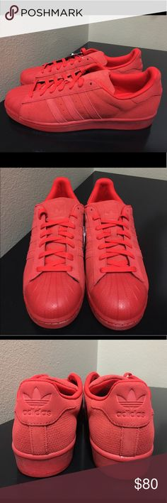 Adidas Superstar Triple Red Brand new/Never worn. Brings original everything. 100% Authentic. High quality. Suede adidas Shoes Sneakers