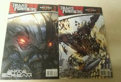 Transformers The Reign of Star Scream Comic Books Official Movie Sequel #1, 2