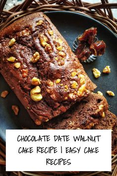 This Chocolate Date Walnut Cake recipe is perfect to give company to your cup fo tea or coffee. Also perfect as a healthy snack for kids MADE WITH PINGENERATOR.COM Walnut Cake Recipe Easy, Easy Cake Recipes, Egg Recipes, Date And Walnut Cake, Date Cake, Breakfast Cups, Dark Chocolate Cakes, Food Names, Unsweetened Cocoa