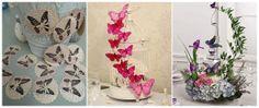 centrotavola ghirlanda con farfalle al matrimonio / butterfly centerpiece  decoration