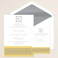 Greek Style Wedding Invitation | #exclusivelyweddings