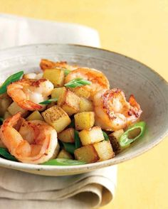 Shrimp With Scallions and Crispy Potatoes | 27 Five-Ingredient Dinners That Are Actually Good For You